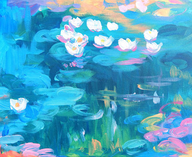 Medium monet waterlilies