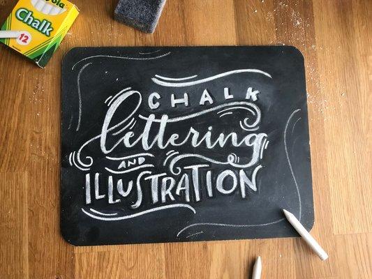 Carousel chalk lettering
