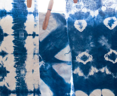 Medium shibori indigo dying