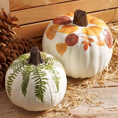 Carousel decoupage pumpkin