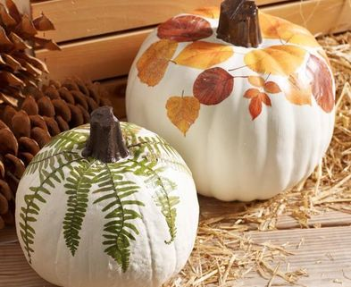 Medium decoupage pumpkin