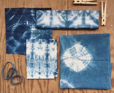 Medium shibori dyeing samples