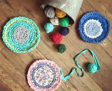 Medium crochet rag rugs