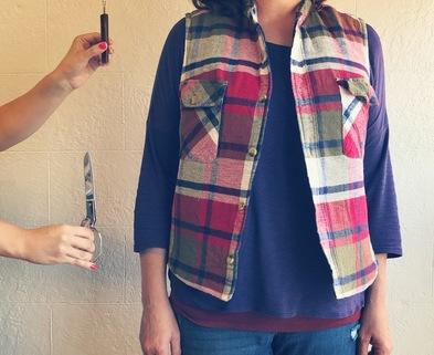 Medium flannel vest