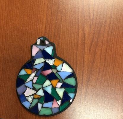Carousel little glass art dabble denver mosaics class