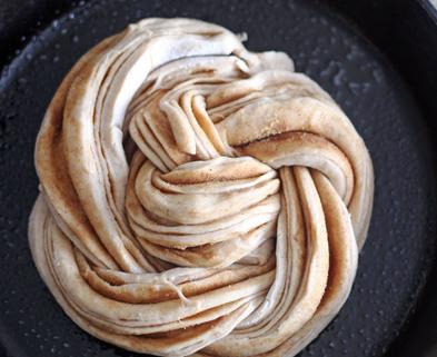 Medium cinnamon swirl bread stage 4