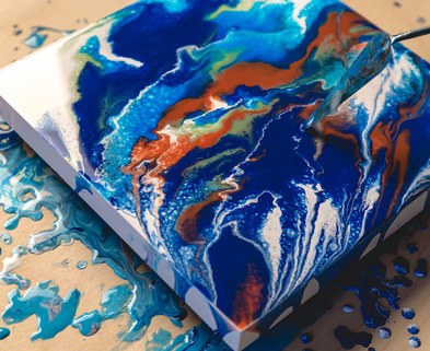 Medium paint pouring demo