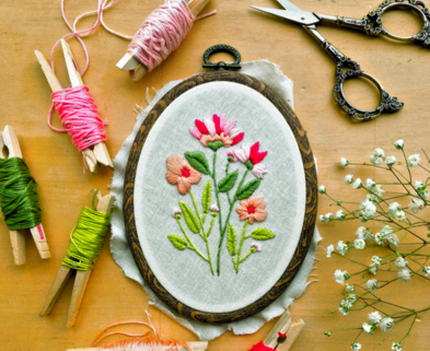 Medium intro to floral embroidery