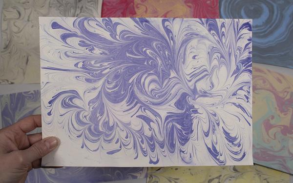 Carousel photo paper marbling 1