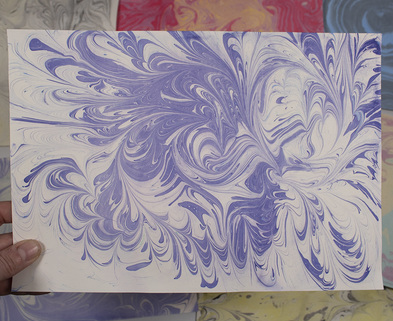 Medium photo paper marbling 1