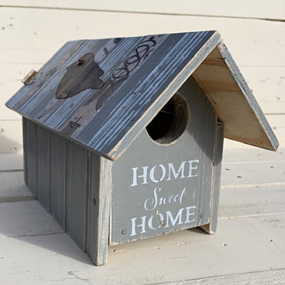 Carousel bird house front