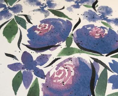 Medium watercolor florals 101