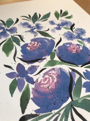 Carousel watercolor florals 101
