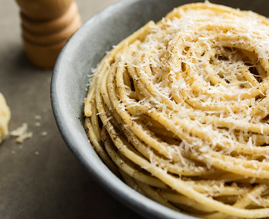 Medium hero cacio e pepe pasta noodles parmesan italian food cooking dining pizza party recipes
