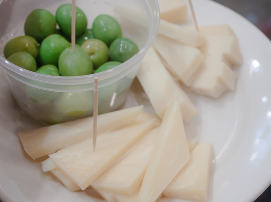 Carousel cheese and olives tasting