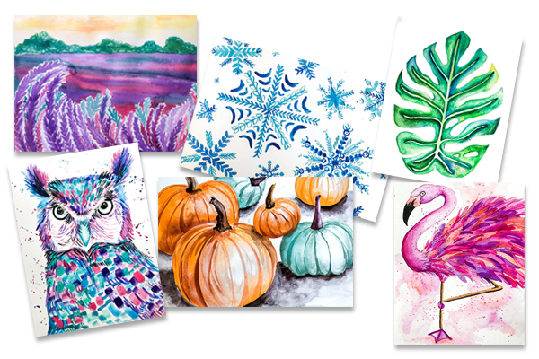 Carousel watercolorexamples