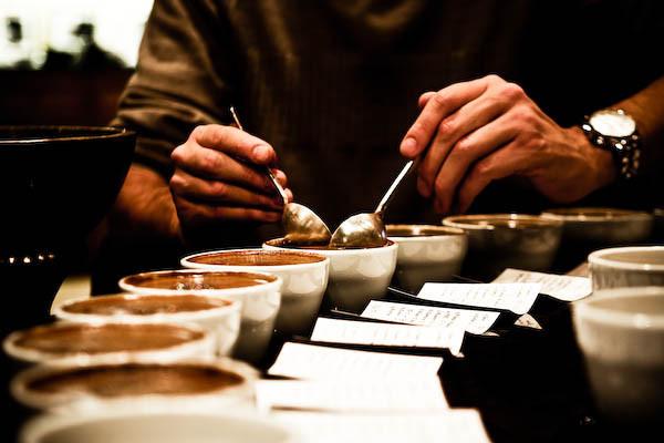 Carousel coffee tasting