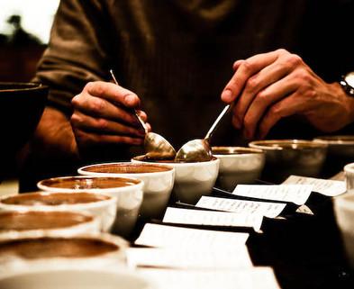 Medium coffee tasting