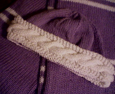 Medium purplehat scarf