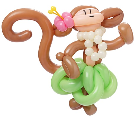 Carousel balloon animal monkey