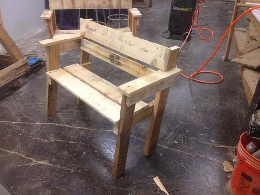 Tremendous Woodworking Classes Chicago Rustic Pallet Furniture Dabble Creativecarmelina Interior Chair Design Creativecarmelinacom