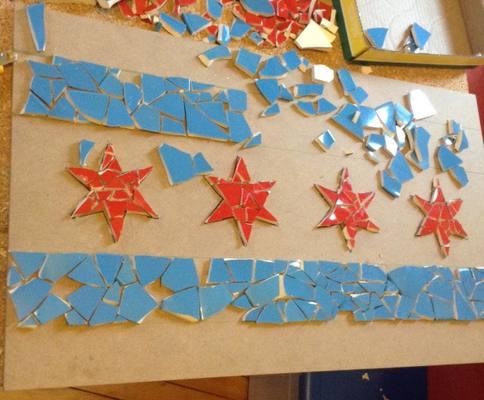 Carousel chicagoflagmosaic duplicate