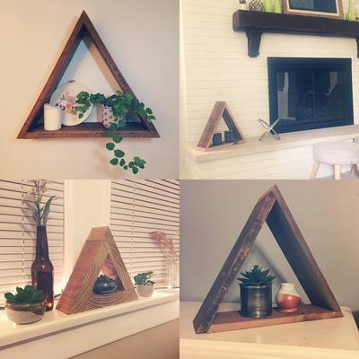 Carousel triangle shelf examples