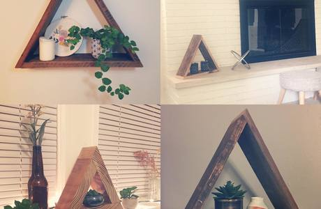 Medium triangle shelf examples