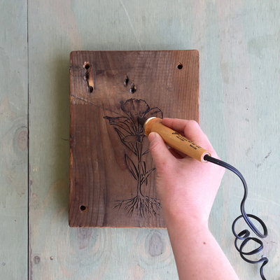 Carousel diy wood burned flower press