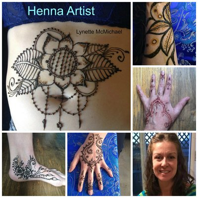 Carousel henna artist with copy
