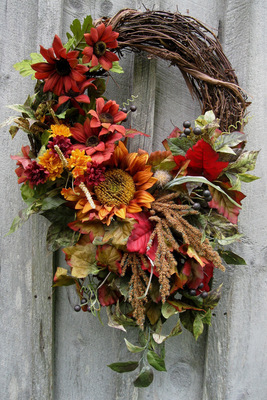 Carousel fall wreaths