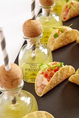 Carousel  neil mini taco and margarita closeup