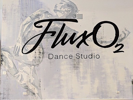 Carousel flux o2 dance studio logo