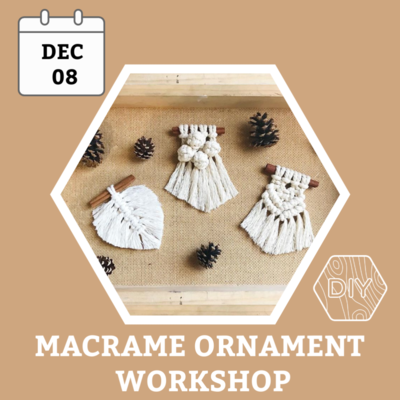 Carousel macrame ornament denver diy workshop dabble