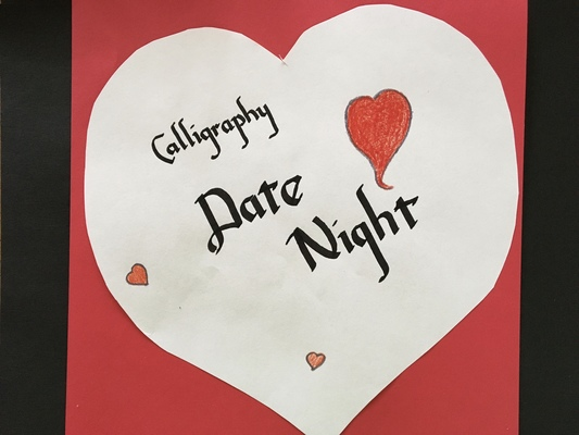 Carousel calligraphy date night dabble chicago flying dolphin studio
