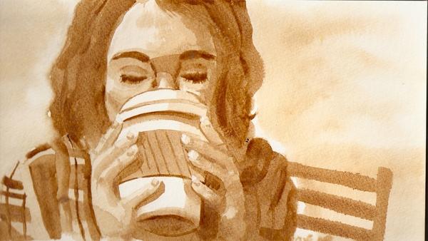 Carousel coffee painting self portrait 2010 1 000000036801 1