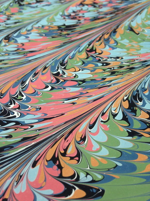 Carousel marbled paper close up 1 900