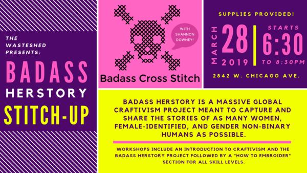 Carousel herstory badass cross stitch   fb event