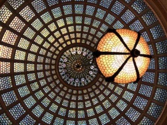 Carousel cultural center tiffany dome