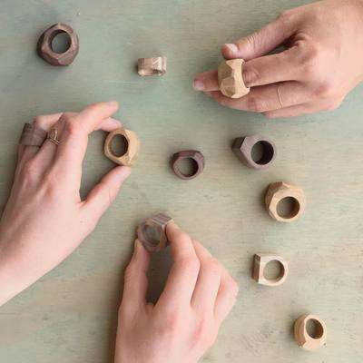 Carousel reclaimed wood rings samples