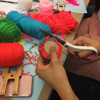 Carousel the neon tea party pom pom workshop trimming