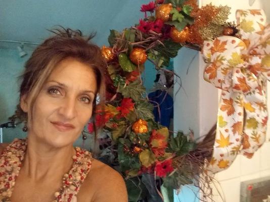 Carousel glitter wreath 1