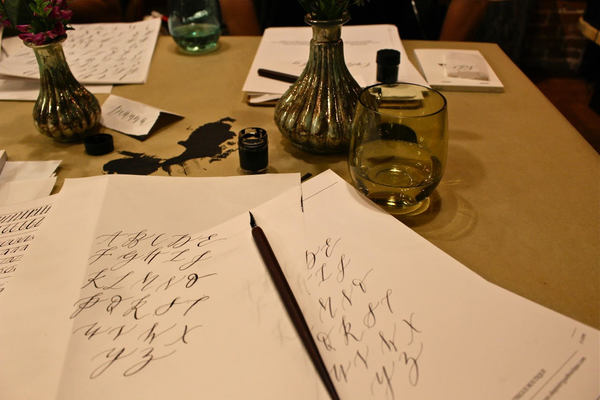 Calligraphy classes denver intro to modern calligraphy dabble