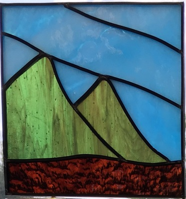 Carousel mini leaded panel dabble colorado little glass 3
