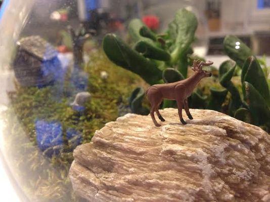 Carousel deer in the wilderness