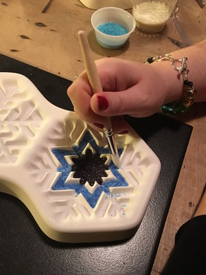 Carousel snowflake ornament 1