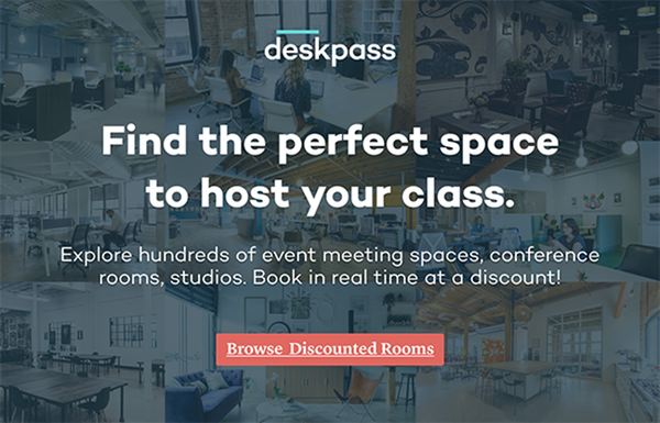 Carousel deskpass dabble graphic venue booking