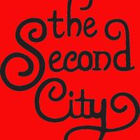 Medium square second city curly logo red