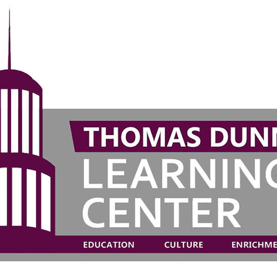 Big square thomas dunn learning center plum and grey logo png