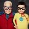 Thumb boy and grandpa